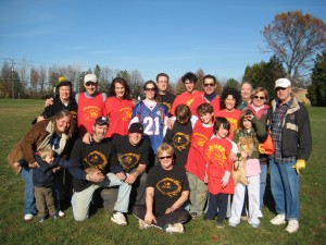 Our family's Thanksgiving touch football game